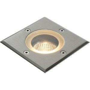 Saxby 52211 Pillar Square Outdoor Floor Light Stainless Steel Ip44 Lighting