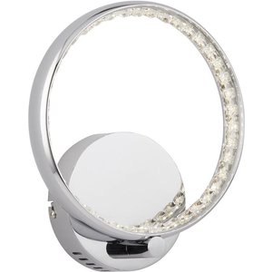 Searchlight 3111cc Rings One Light Wall Light In Chrome With Acrylic Lighting
