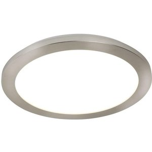 Searchlight 8101-30ss Bathroom Flush Ceiling Light In Satin Silver With Acrylic - Dia: 300 Lighting