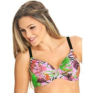 Freya Swimwear Freya Lost In Paradise Underwired Plunge Bikini Top Pink, Pink