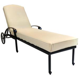 Charles Bentley Cast Aluminium Sun Lounger With Beige Cushion
