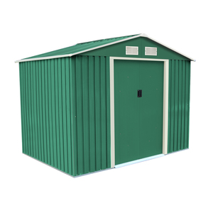 Charles Bentley Metal Shed With Floor Frame Green 8ft X 6ft