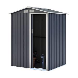 Charles Bentley Metal Storage Shed 4.9ft X 4.3ft
