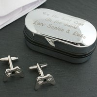 3d Cufflinks In Personalised Box - Gaming Controller Personalised Gifts