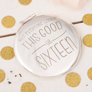 Engraved Compact Mirror - Looking Good At... Any Age Personalised Gifts