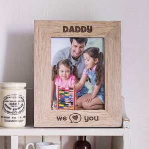Engraved Wooden Photo Frame - We Heart You Personalised Gifts