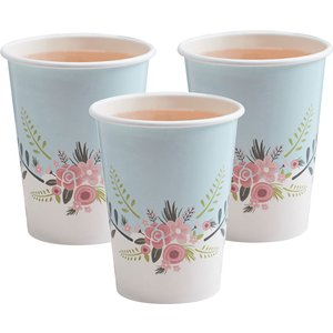 Floral Fancy Paper Cups (pack Of 8) Wedding Gifts