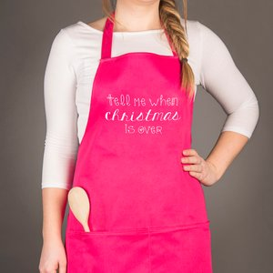 Personalised Apron - Tell Me When It's Over Personalised Gifts