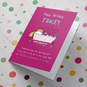 Personalised Card - Add Wine Greeting Cards