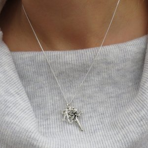 Personalised Cross Charm Necklace - Any Initial Personalised Gifts