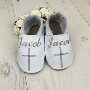 Personalised Cross Christening Baby Shoes Other Occasions