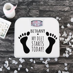 Personalised Diet Starts Today Bathroom Scales Personalised Gifts
