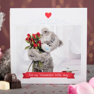 Personalised Me To You Belgian Chocolates - Any Message Tatty Teddy, Red Roses Personalised Gifts