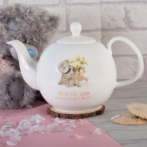 Personalised Me To You Bone China Teapot - Tea-riffic Personalised Gifts