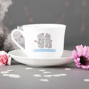 Personalised Me To You Tea Cup & Saucer - Any Message Personalised Gifts
