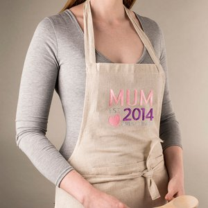 Personalised Natural Apron - Mum Est Personalised Gifts