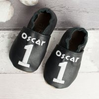 Personalised Number Baby Shoes Personalised Gifts