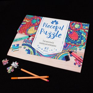 Personalised Pieceful Puzzle Adult Colouring Jigsaw Personalised Gifts