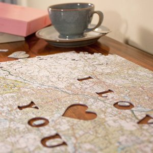 Personalised Postcode Jigsaw Puzzle - We First Met Here Personalised Gifts