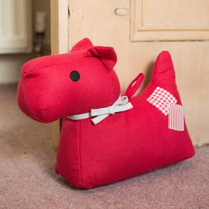 Personalised Red Mabel Door Stop Holder Gifts