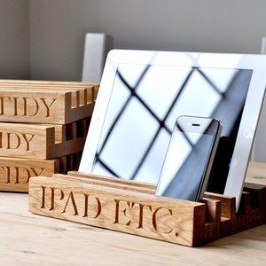 Personalised Solid Oak Desk Tidy Personalised Gifts