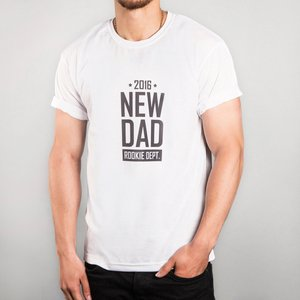 Personalised White T-shirt - New Dad Personalised Gifts