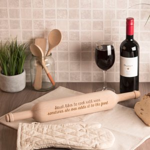Personalised Wine Bottle Rolling Pin - Any Message Gifts