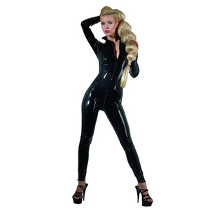 The Latex Collection Latex Catsuit Black - Xs