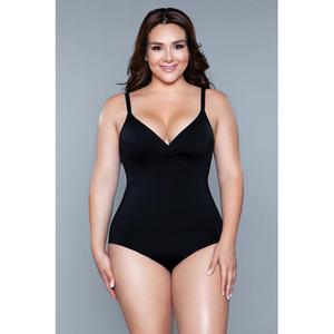 Be Wicked What Waist Corrective Bodysuit - Black - Xl-xxl