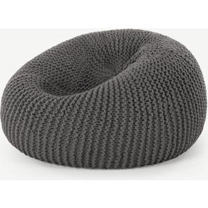 Made.com Aki 100% Wool Knitted Cocoon Bean Bag, Grey, Grey