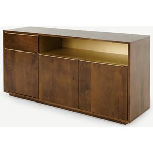 Made.com Anderson Sideboard, Mango Wood & Brass Brass,dark Wood, Brass,Dark wood