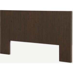 Made.com Anwick Double Headboard, Dark Stain Acacia Dark Wood, Dark wood