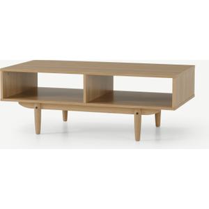 Made.com Asger Storage Coffee Table, Oak Effect Light Wood, Light wood