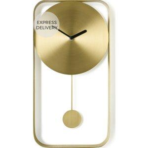 Made.com Bard Pendulum Wall Clock, Brushed Brass Black,brass , Black,Brass