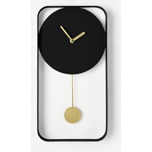 Made.com Bard Pendulum Wall Clock, Matt Black & Brass Black,brass, Black,Brass