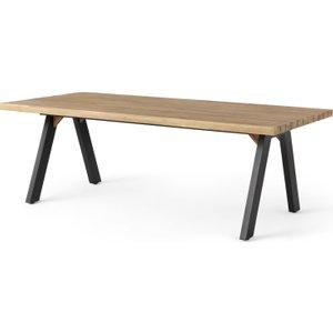 Made.com Bosco Garden Dining Table, Black & Acacia Wood Green,natural , Green,Natural