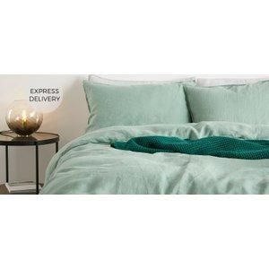 Made.com Brisa 100% Linen Pair Of Pillowcases, Soft Green Uk Light Green , Light green
