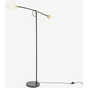 Made.com Calico Floor Lamp, Black & Brass Black,brass,clear, Black,Brass,Clear