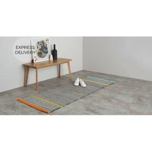 Made.com Carson Flatweave Runner 66 X 200cm, Multi Multicoloured , Multicoloured