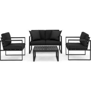 Made.com Catania Garden Lounge Set, Black And  Polywood , Black
