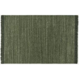 Made.com Celsi Wool Pile Rug, Large 160 X 230cm, Dark Green, Green