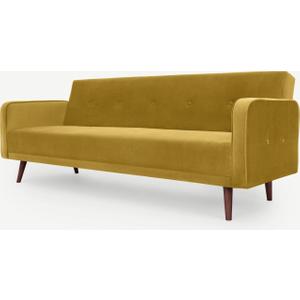 Made.com Chou Click Clack Sofa Bed, Vintage Gold Velvet, Gold