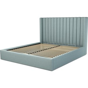 Made.com Custom Made Cory Super King Size Bed  With Ottoman, Sea Green Cotton, Green
