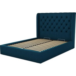 Made.com Romare King Size Ottoman Storage Bed, Shetland Navy Wool Blue, Blue