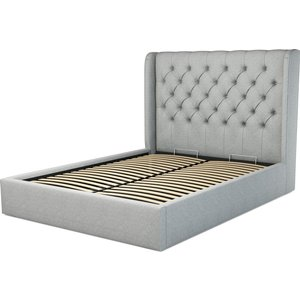 Made.com Custom Made Romare King Size Bed  With Ottoman, Wolf Grey Wool, Grey