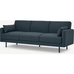 Made.com Delphi Click Clack Sofa Bed, Aegean Blue, Blue