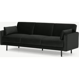 Made.com Delphi Click Clack Sofa Bed, Dark Anthracite Velvet Grey, Grey