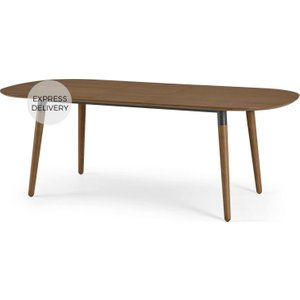 Made.com Edelweiss 6-8 Seat Oval Extending Dining Table, Walnut And Black Dark Wood , Dark wood
