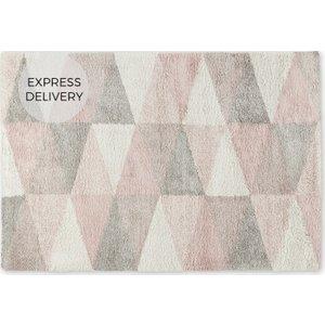 Made.com Estelle Pile Rug, Small 120 X 170cm, Pink & Grey Grey,pink , Grey,Pink