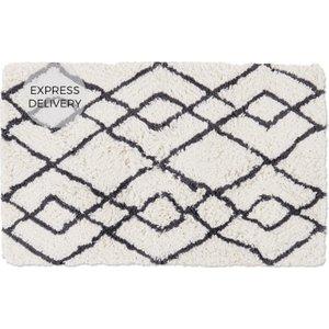 Made.com Fes 100% Cotton Bath Mat, 50x80cm, Mist Grey , Grey